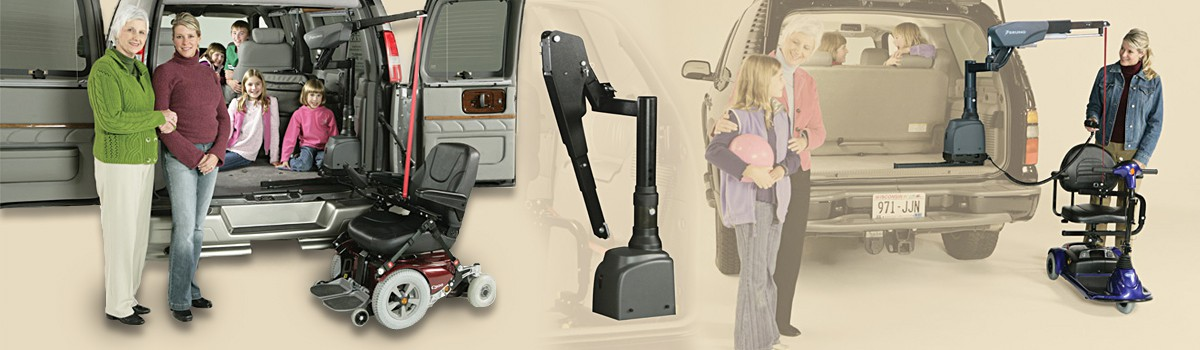 Bruno Curb Sider Scooter/Wheelchair Lift (1 of 1)
